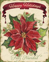 Happy Holidays - Pointsettia Fine-Art Print