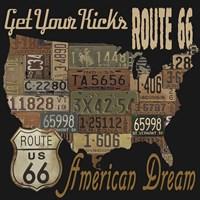 Route 66 - American Dream Kicks Fine-Art Print