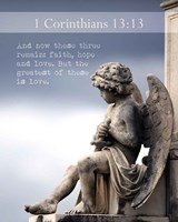 1 Corinthians 13:13 Faith, Hope and Love (Statue) Fine-Art Print