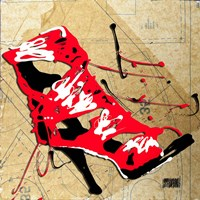 Red Strap Boot Fine-Art Print