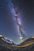 Milky Way over the Columbia Icefields in Jasper National Park, Canada Fine-Art Print