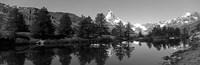 Matterhorn reflecting into Grindjisee Lake, Zermatt, Valais Canton, Switzerland Fine-Art Print