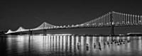 Bay Bridge lit up at night, San Francisco, California Fine-Art Print