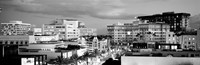 High angle view of buildings in a city, Rodeo Drive, Beverly Hills, California Fine-Art Print