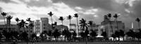 Buildings Lit Up At Dusk, Ocean Drive, Miami Beach, Florida Fine-Art Print