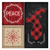 Plaid Christmas IV Fine-Art Print