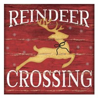 Reindeer Crossing Fine-Art Print