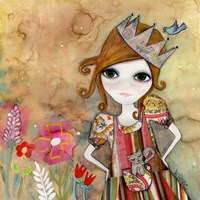Big Eyed Girl I Am The Queen (No Words) Fine-Art Print