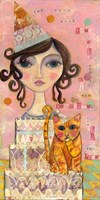 Big Eyed Girl You Can't Have Your Cake & Eat It Too Fine-Art Print