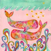 Pink Whales Fine-Art Print