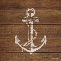 Anchor On Wood Fine-Art Print