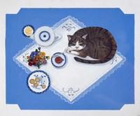 Tabby Loves Breakfast Fine-Art Print