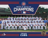 Chicago Cubs 2016 World Series Champions Team Sit Down Fine-Art Print