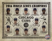 Chicago Cubs 2016 World Series Champions Vintage Composite Fine-Art Print