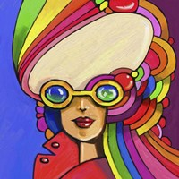 Pop Sunglasses Lady Fine-Art Print