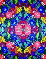 Pop Art Flowers Kalidescope Fine-Art Print