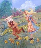 Alice And White Rabbit Fine-Art Print