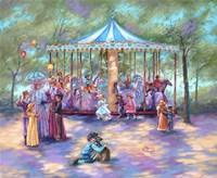Blue Carousel Fine-Art Print