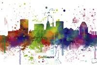 Baltimore Maryland Skyline Multi Colored 1 Fine-Art Print