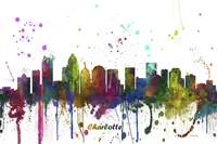 Charlotte NC Skyline Multi Colored 1 Fine-Art Print