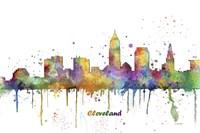Cleveland Ohio Skyline Multi Colored 1 Fine-Art Print