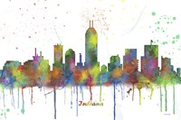 Indianapolis Indiana Skyline Multi Colored 1 Fine-Art Print