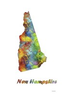 New Hampshire State Map 1 Fine-Art Print