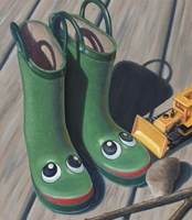 Apple Frog Boots Fine-Art Print