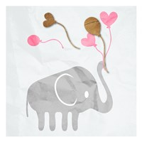 Elephant Balloon Fine-Art Print
