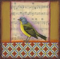 Bird on Musical Notes 2 Fine-Art Print