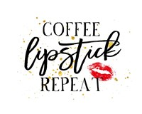 Coffee Lipstick Repeat Fine-Art Print