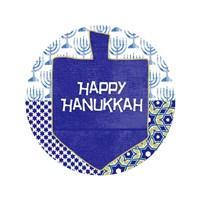 Happy Hanukkah Round I Fine-Art Print