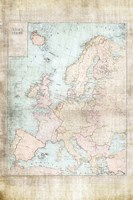 Central Europe Map WWII Fine-Art Print