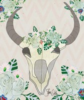 Animal Skull Botanicals Fine-Art Print