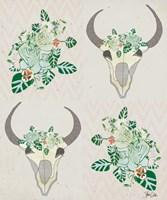 Animal Skull Botanicals Pattern Fine-Art Print