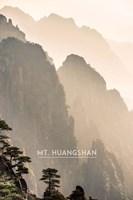 Vintage Mount HuangShan, Yellow Mountains, China, Asia Fine-Art Print