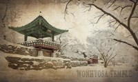 Vintage Winter at Wonhyosa Temple, Korea, Asia Fine-Art Print