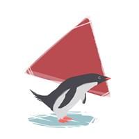 Minimalist Penguin, Boys Part III Fine-Art Print