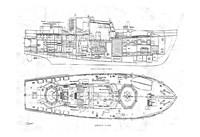 Boat Blueprint 1 Fine-Art Print