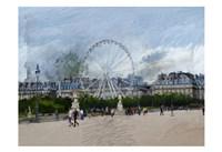 Paris Louvre Ferris Wheel Fine-Art Print