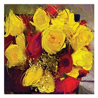 Yellow And Red Roses Fine-Art Print