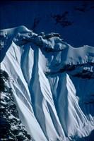 Close-up of Glacier at Chomolonzo, Tibet Fine-Art Print