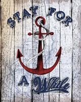 Stay Anchor Fine-Art Print