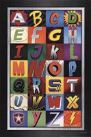 Superhero Alphabet Fine-Art Print