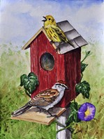 Chipping Sparrow and Yellow Warbler Fine-Art Print