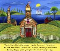School Lighthouse Lang Fine-Art Print