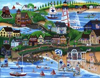 Old New England Seaside 4th of July Celebration Fine-Art Print
