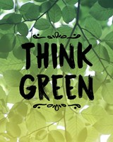 Think Green Ombre Leaves Fine-Art Print