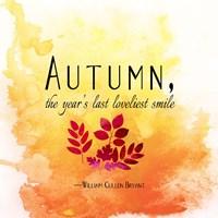 Autumn, the Year's Last Loveliest Smile Fine-Art Print