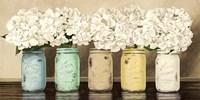 Hydrangeas in Mason Jars Fine-Art Print